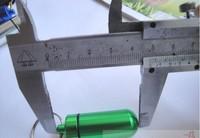 WHOSALE 100PCS Pill Box keyring, pill Travel Metal Holder Case Container pendant , Waterproof Aluminium pill cntainer keychain