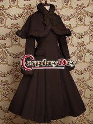Custom made Gothic clothing Chocolat lolita coat dress for Christmas (free shipping)(China (Mainland))