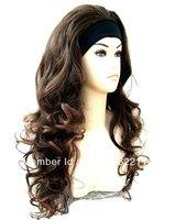 Fall Dark Brown Auburn Half Wig Hair Piece from Vogue Wigs