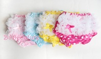 Детские трусики 1PC Retail baby lace Panties girl Ruffle Bloomer Shorts newborn diaper ruffle short baby underwear 4 color