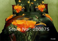 Free Shipping--KING SIZE--40s 100% Cotton Pandora  FS429--oil painting bedding set /bed linen/4pcs comforter sets/bed sheets