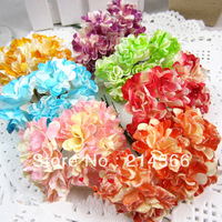 two-color mix handmade paper flowers candy box for wedding