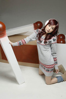 Promotion!!2012 Autumn New Women's Christmas Deer Prints Knit Long Sweater, Winter Sweater,freeshipping