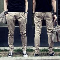 Fashion Men's Pants  the trousers male fashion slim skinny pants taper pencil pants