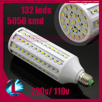 E27/E14 25W 5050 SMD 132 LED 2000LM Corn Bulb Light Spot Lamp Warm/Cold White, 220V/110V, Free Shipping