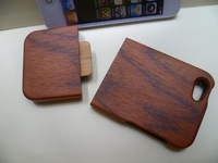 Natural Bamboo Wood  Wooden Redwood handmade Case Cover for iphone 5 5G 5th with Retail package Freeship