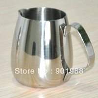 Hot sell 50pcs per lot- extra thick- stainless steel Latte milk jug-milk pot-350ml