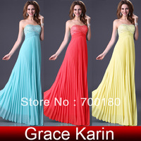 Free Shipping 1pcs/lot Grace Karin 3 Colors Stunning Sequins Prom and Formal Evening Maxi Couture Cocktail Dresses CL3083