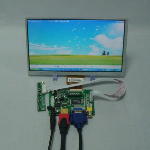 HDMI+VGA+2AV Driver board+9inch 800*480 AT090TN10 AT090TN12 lcd panel(China (Mainland))