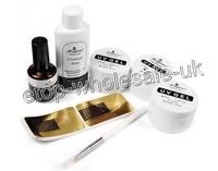 Free Shipping Brand New Pro Crystal Nails Full Acrylic UV Gel For Nail Art Set c506
