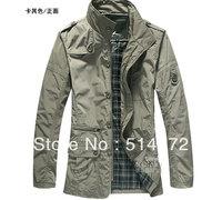 Best Selling !!2012 men's coat fashion winter outwear winter jacket+Free Shipping