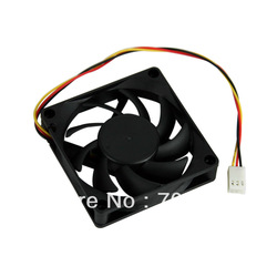 10pcs/lot PC Computer CPU 3 Pin Fan Cooler Cooling Heatsink Exhaust Blower 70mm(China (Mainland))