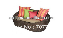 2013 New Design rattan outdoor round sofa(China (Mainland))
