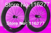 full carbon road bike 700C wheel rims Tubular  wheelset 88mm