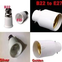 Led Lamp Base Adapter Screw to Bayonet Cap B22 to E27 Lampholder converter 50PCS