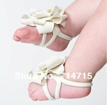 5 Colors Top Baby Shoes Flower Design Baby PreWalker Infant Shoes Cotton Barefoot Sandals 100% Brand New