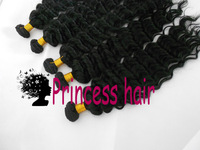 Queen Hair Deep Wave,3pcs or 4pcs mix size available,virgin brazilian human hair extensions ,1b(3.5oz/pc)