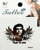 Free CN Shipping 50PCS/lot Wholesale Che Guevara Fashion Cool Fake Temporary Tattoos Body Art Stickers