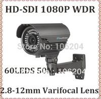 Security HD SDI 1080P Camera 2.8-12mm 2.0Megapixel Varifocal lens  WDR,Digital zoom,motion detection video bullet camera