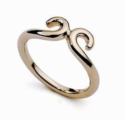 Magic spells rose gold ring love you for ten thousand years female Fashion jewelry 4colours(China (Mainland))