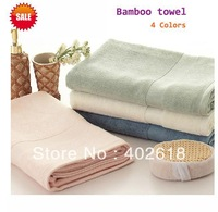Free shipping--140x70cm Size, Bath towel, Bamboo towel,100%bamboo fiber, 600gsm weight, Eco-friendly, Solid color