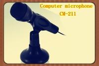 free shipment wire mini gooseneck computer microphone ,mic for PC chat , singing, karaoke