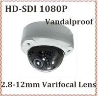WDR HD SDI 1080P CCTV Dome Camera 2.8-12mm 2.0megapixel lens vandalproof waterproof outdoor security video camera