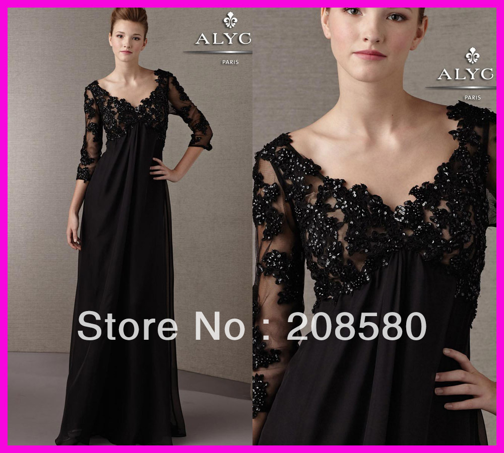 2013 Designers' Lace Mother of the Bride Gowns Dresses Sequins with Long Sleeves M1280