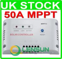 50A MPPT solar panel charge Regulator/controller 12/24V AUTO,UK STOCK,WHOLESALE