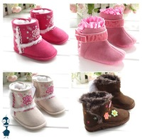 Wholesale new fashion cute design baby shoes snow boots winter shoes non-slip warm footwear 36pairs/lot brand shoes WB003