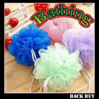 5pcs/lot free shipping new quality enviromental nylon bath flower,bathroom accessories,family bath ball,home bathing set,BB349