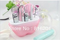 Free shipping 5pc --Wedding Giveaways/return gift, Apple Shape Pedicure/Manicure Set kit ladies Favor