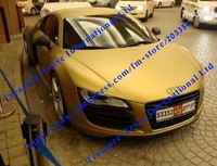 air free bubble Gold Matt Vinyl film for car warpping Car Color change tint film Free Shipping
