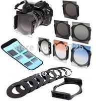 9size metal Adapter Ring + For Cokin P series ND2 4 8 Graduated Gradual  grey+blue+orange