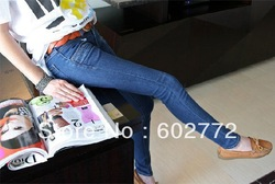 New Women/ladys Fashion low Waist Skinny Jeans Best Quality Fast Delivery(China (Mainland))