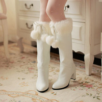 2012 autumn and winter women's shoes high thick heel long boots