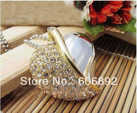 NEW crystal Bosse Genuine 2GB 4GB 8GB 16GB 32GB USB 2.0 Memory Stick Flash Pen Drive, leaf style  free shipping