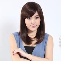 Wig female long scroll fluffy repair long straight hair pear stubbiness