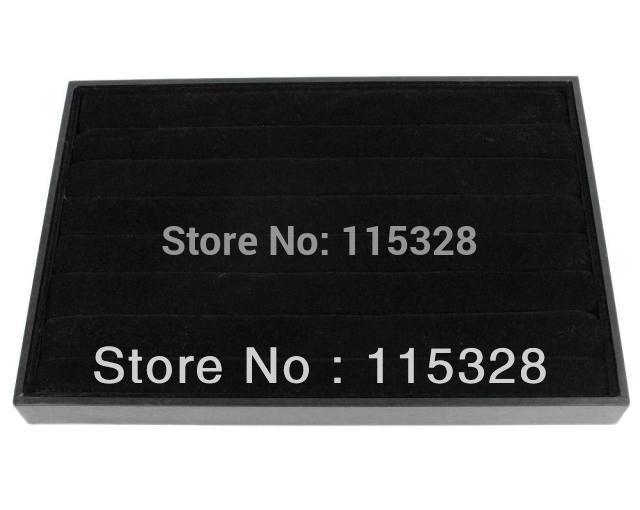 Free Shipping,Wholesale 1pcs 35x24x3cm 8 Rows Black Jewelry Rings
