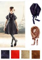 Free Shipping - Fashion Children's / kids / girls faux fur scarf, cute accessory wrap neckerchief , 4 colors(MOQ: 8pcs)