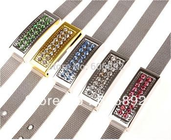 NEW crystal Bosse Genuine 2GB 4GB 8GB 16GB 32GB USB 2.0 Memory Stick usb Flash disk Pen Drive, bracelet style  free shipping