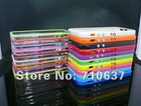 1000pcs/lot,Free shipping for iphone 5 5g bumper Newest Soft bumper frame case for iphone5 with retail package