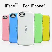 DHL free shipping 2 in 1 case for iphone 5, pc+tpu hard case ,iface case for iphone 5 50 pcs/lot