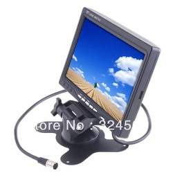 "Audio Video AV Car Rearview Monitor 7"" Color TFT LCD Work With DVD/serveillance camera/STB/Satellite Receiver K352 7 Inch 7inch(China (Mainland))"