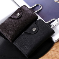 Palcent 105 male genuine leather key wallet men's lovers genuine leather car keychain gift box set
