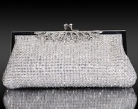 Bags handmade diamond luxury SWAROVSKI advanced rhinestone evening bag bridal bag banquet formal dress female clutch