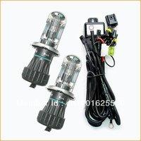 Free shipping, 2x35w H4 bi-xenon hid 6000K bulb, good quality