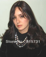 "24""Body Wave Jewish wig 100% Virgin Human Hair Silk Top wig--Free Shipping"