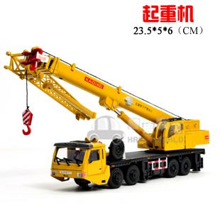 cars alloy 4 heavy duty 8 wheel crane mainest retractable rotation full alloy truck model