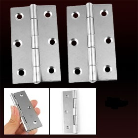 "3.5"" Length Silver Tone 300 Degree Adjustable Butt Hinge 4 Pcs Free Shipping"
